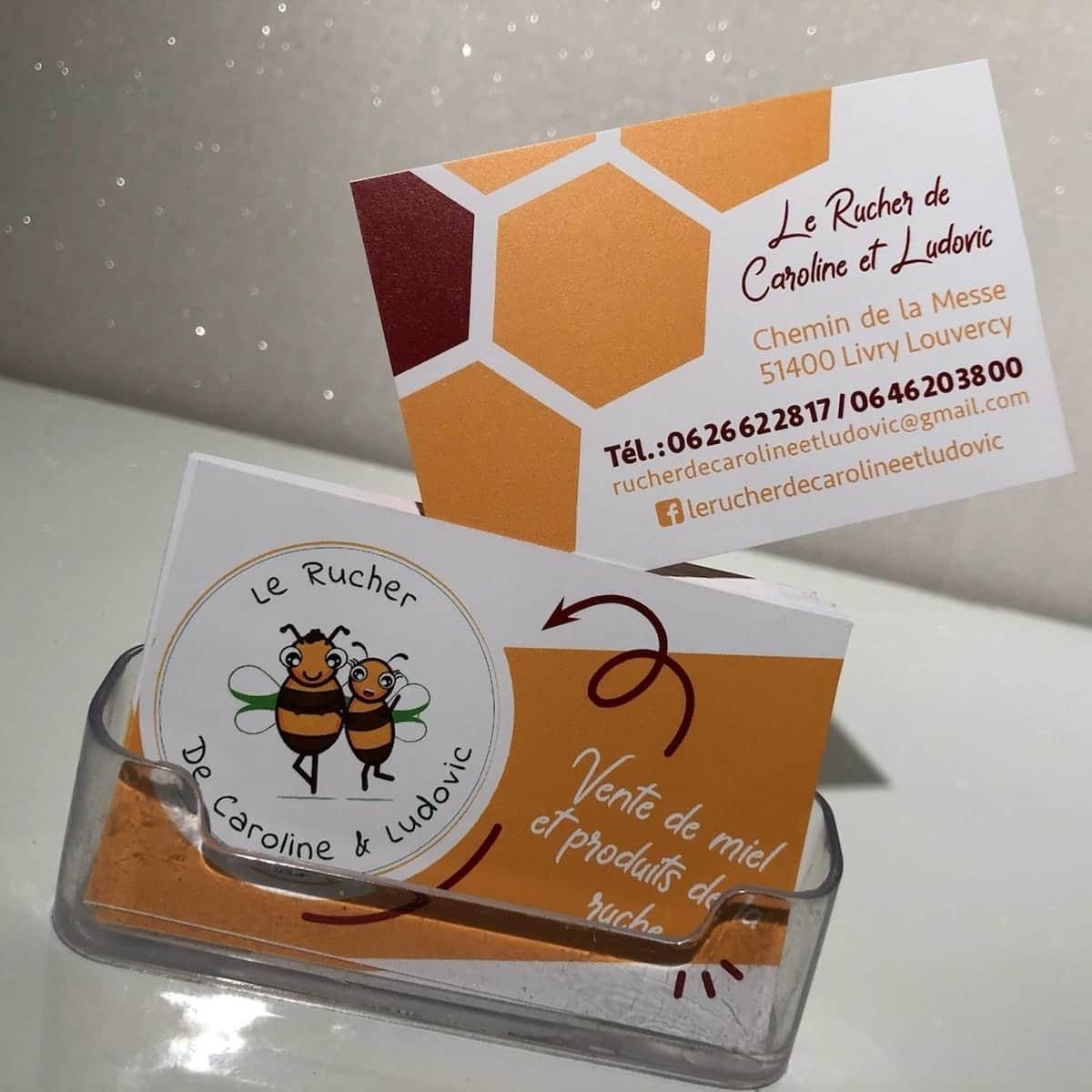 honey and bees logotype le rucher de caroline et ludovic